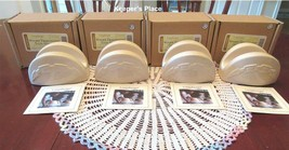 4 Longaberger Woven Traditions Pottery Ivory Taco Curling Iron Sponge Ho... - $56.00