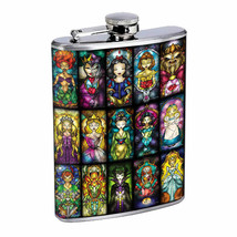 Stainglass Collage Em1 Flask 8oz Stainless Steel Hip Drinking Whiskey - $13.81