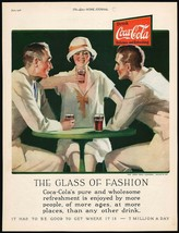 Vintage magazine ad COCA COLA from 1926 The Glass Of Fashion woman and men - $14.99