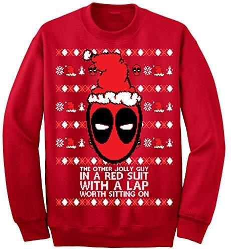 Primary image for Adult Deadpool The Other Jolly Guy in A Red Suit Ugly Christmas Sweater X-Large