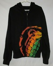 Grenade Black Zip Front Hoodie Size Small BNWT - $39.99