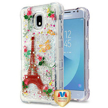 Paris Butterfly TUFF Glitter Case for SAMSUNG Galaxy J3 V 2018/Star/Achieve - $13.39