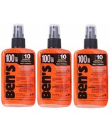 3 Pack Ben's 100% Deet Tick Bug & Insect Military Repellent Spray Pump 3... - $32.99