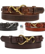 EQUESTRIAN LEATHER BELT - Unique Horse Hoofpick & Loop Closure Amish USA - $68.97