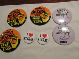 Rx, Pharmacy, Mixed Lot Of Buttons , Vintage , Lot of 7 - $20.00