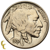 1937 Five Cent Buffalo Nickel 5C (Choice BU Condition) Full Mint Luster - $39.59