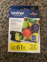 BROTHER LC61Y LC61 YELLOW INK CARTRIDGE GENUUINE Vacuum Sealed  NEW SEALED - $25.62