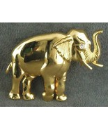 Good Luck Elephant Pin Vintage Gold Tn Trunk Up for Luck FREE SHIPPING S... - $21.50