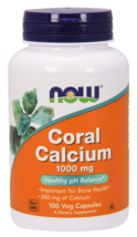 Coral Calcium 1000mg Now Foods 100 VCaps - $19.90