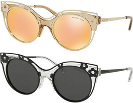 Michael Kors Melbourne Women's Crystal Clear Floral Cat-Eye Sunglasses - MK1038 - $49.99