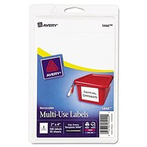 Avery 05444 Removable Multipurpose Label,2-Inch x4-Inch,100/PK,White - $3.91