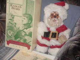"""17"""" Raikes Santa Bear Jointed Plush Doll With Tags & Box - $98.99"""