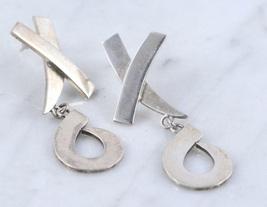 XOXO Hugs and Kisses Sterling Silver Dangle Post EARRINGS - 16.4 grams -... - $48.00