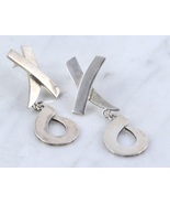 XOXO Hugs and Kisses Sterling Silver Dangle Post EARRINGS - 16.4 grams -... - $48.00