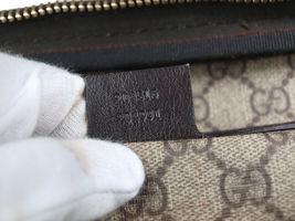 GUCCI GG Web PVC Canvas Patent Leather Browns Shoulder Bag GS2242 image 12