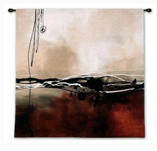 """Symphony in Red and Khaki II 35""""x 35"""" Wall Tapestry - $108.87"""
