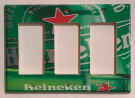Heineken Beer Cans bottle Light Switch Power Outlet wall Cover Plate Home Decor image 3