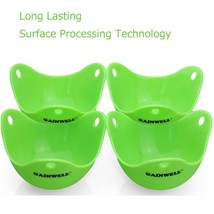 4 Pcs Silicone Egg Poacher Poached Eggs Cups Pan Boiled Cooking Egg Mold... - $14.47 CAD