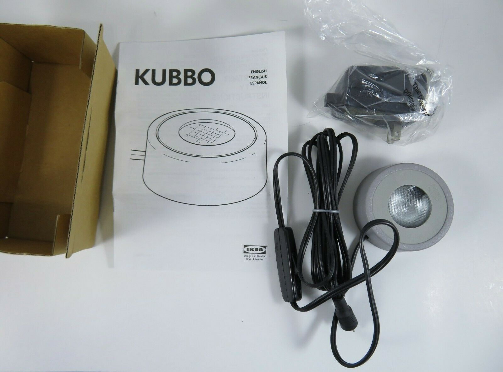 Primary image for IKEA Kubbo Illumination Lamp For Glass Orb Paperweight Mini Light 300.813.92