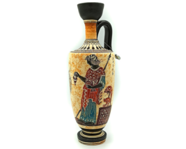 Goddess Athena Archaic Period Ceramic Lekythos (800 - 479 B.C.) Greek Po... - $95.00