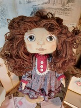Interior Textile Doll, Handmade Doll, Art Doll, Cloth Doll - $130.00