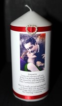 Unique Valentine  present for her him with poem personalised gift Candle #1 - $20.51