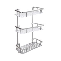 BATHWA Bathroom Shelves (3-Tier Corner Shelf Aluminum) - $31.89