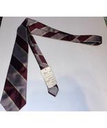 Vintage 80s Christian Dior Stripes Mens Luxury Silk Neck Tie - $19.78