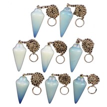 (Min. Order is $10) 5pcs Opal Opalite Pendulum Pendant Bead E82 - $18.51