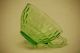"""Old Vintage Thumbprint Green by Federal Glass 2-1/4""""  Cup Green Depressi... - $9.89"""