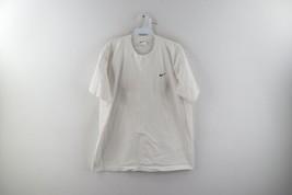 Vtg Nike Mens Large Travis Scott Mini Swoosh Distressed Short Sleeve Shi... - $49.45