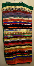 Crocheted Granny Afghan Hand Made Colorful Boho Music Festival Blanket 4... - $39.55