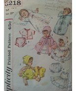 Simplicity 3218 Vintage Doll Clothes Pattern from the 60's for 20 Inch Doll - $14.84