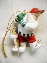 LENOX CHRISTMAS ORNAMENT SANTA PLAYING GOLF: NO BOX - $15.00