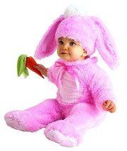 Infant Precious Pink Wabbit Costume Fuzzy Bunny Rabbit size 6-12 months - $17.33