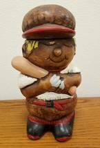 Vintage Baseball Player 9 1/2 Boy Cookie Jar California Originals 875 USA  - $26.94