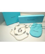 Tiffany & Co Sterling Silver Pearl Infinity Necklace, Bracelet and Earr... - $1,016.49