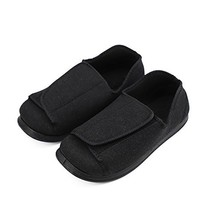 Men's Wide Feet Slippers Orthopedic Adjustable Shoes Wide Fit for Elderl... - $59.13