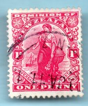 1901 New Zealand Used Postage Stamp - Commerce -  (Scott # 299) - $9.98