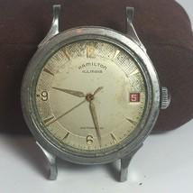 Hamilton illinois Watch 1950s Stainless Steel Automatic No Crystal ETA 1258 - $197.01