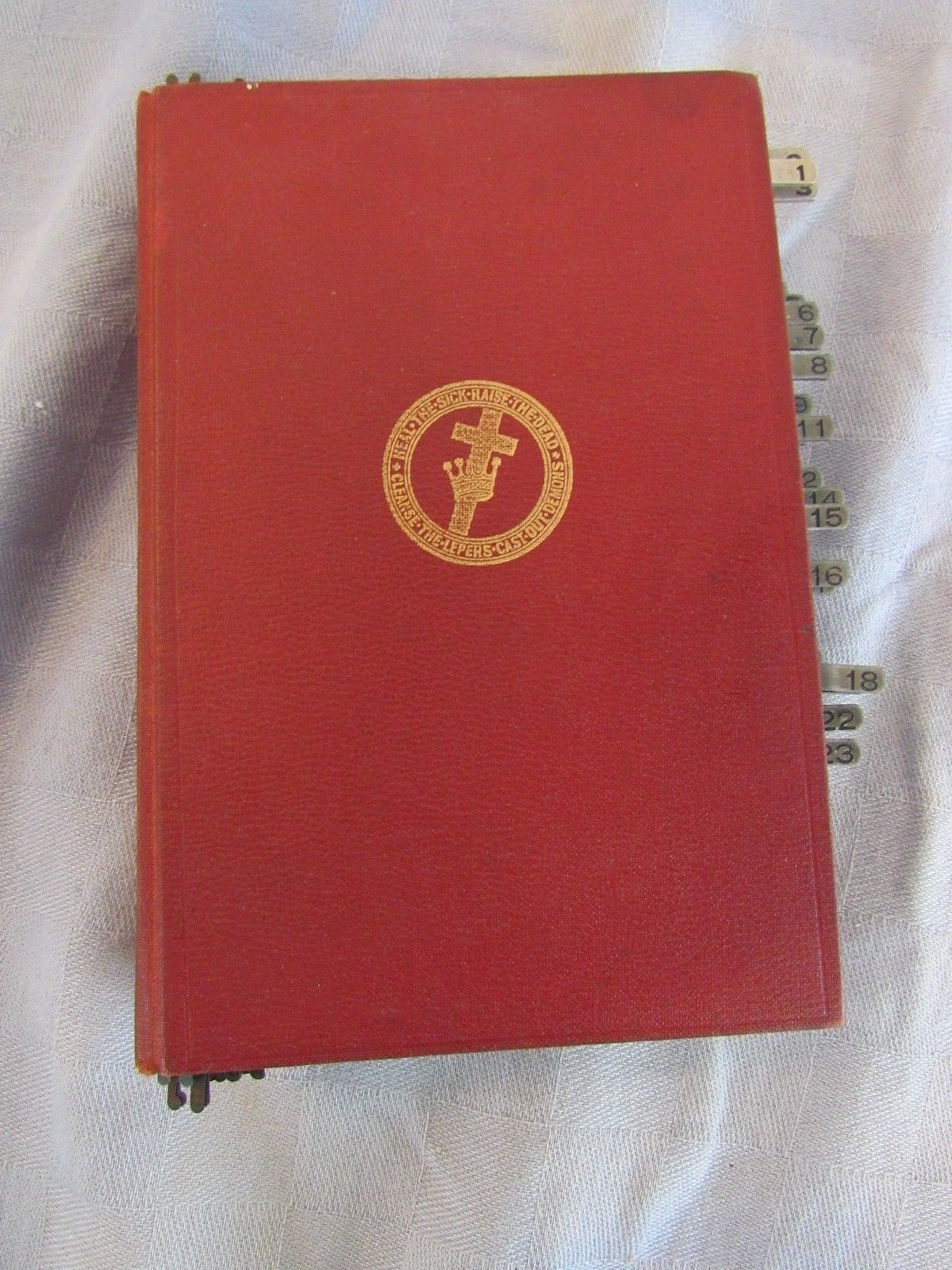 Science and Health With Key To Scriptures Mary Baker Eddy 1934 Metal Page Tabs
