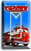Cars Red Fire Truck Single Gfci Light Switch Wall Plate Cover Boys Bedroom Decor - $8.99