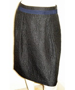Simply Vera VERA WANG Metallic Black Quilted Floral Pleated Pencil Skirt... - $9.70