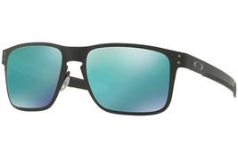 Oakley Gafas de Sol SPORTS Holbrook Metal Mate Negro W/ Jade Iridio OO41... - $177.80