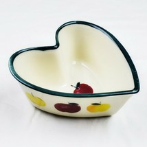 Vintage Hartstone Pottery Golden Delicious Heart Shaped Bowl Dish Apples - $11.99