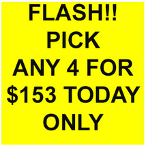 MON-TUES DEAL PICK ANY 4 FOR $153 DEAL BEST OFFERS DISCOUNT MAGICK  - $153.00