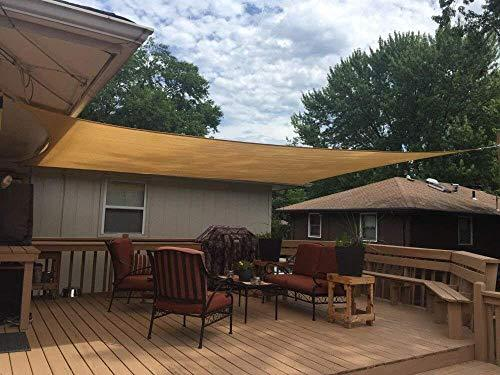 JT - 10' x 10' x 10' Triangle Sand Sun Shade Sail UV Block Perfect Permeable - 1