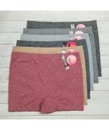 6 Plus Women Soft Stretch Seamless Sport Boyshort Boxer Panty Underwear One Size - £10.76 GBP - £17.94 GBP