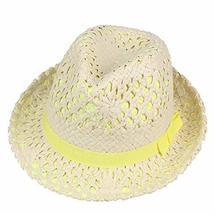 PANDA SUPERSTORE High-Grade Summer Hat Straw Hat Sun Hat Cap Panama Hat-Yellow