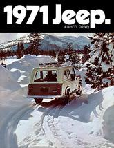1971 Jeep Jeepster Commando - Promotional Advertising Poster - $9.99+